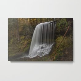 Middle North Falls in Fall Metal Print