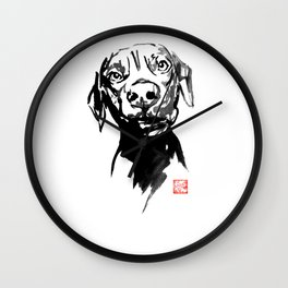 dogface 02 Wall Clock