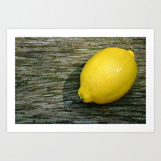 Still Life- Lemon Art Print