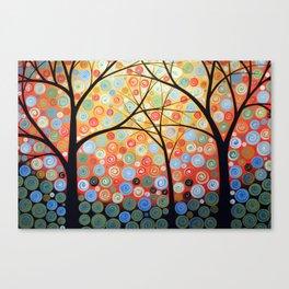 Abstract Art Original Landscape Painting ... Nights of Splendor Canvas Print