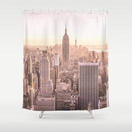 NEW YORK CITY SUNSET Shower Curtain