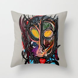 Heart is Art inspired by the music of Thomas Dolby Throw Pillow