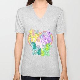g1 my little pony Flutter Ponies Unisex V-Neck
