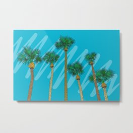 Warm Welcome from Florida Palm Tree Metal Print