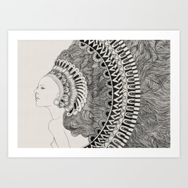 Imaginary Lady Art Print