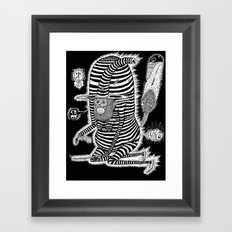 Escape from Mushroom Island Framed Art Print