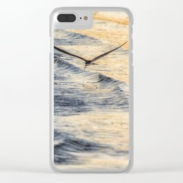 Black Skimmer Skimming Clear iPhone Case