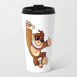 Illustration of Cartoon Monkey Travel Mug