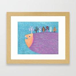 Fish Forest Framed Art Print