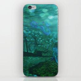 Mermaid Map iPhone Skin