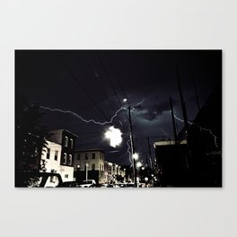 South Philly Lightning  Canvas Print
