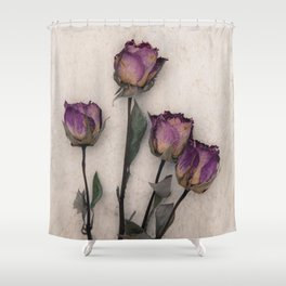 four dried roses Shower Curtain