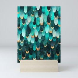 Feathered - Turquoise Mini Art Print