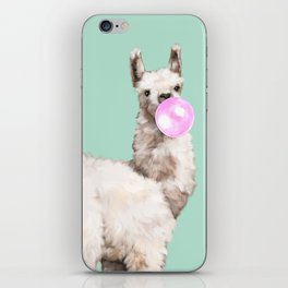 Baby Llama Blowing Bubble Gum iPhone Skin