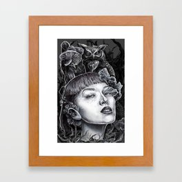 Owls & Fungal Decay Framed Art Print