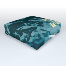 Make Waves in Gold Outdoor Floor Cushion