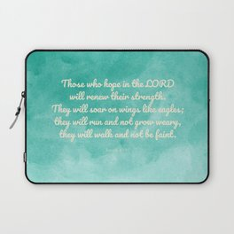 Hope in the Lord Bible Verse, Isaiah 40:31 Laptop Sleeve