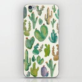 Watercolor Cactus Pattern iPhone Skin