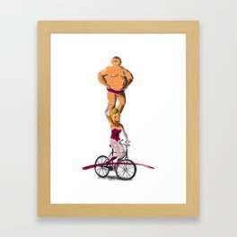 //Circus bike// Framed Art Print