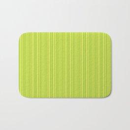Lime Green Pinstripe Bath Mat