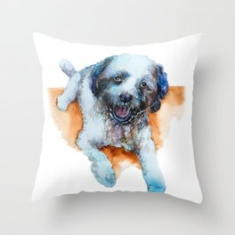 DOG#17 Throw Pillow