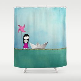 Little girl Shower Curtain