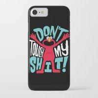 elmo iPhone & iPod Cases featuring Crazy Elmo by Chris Piascik