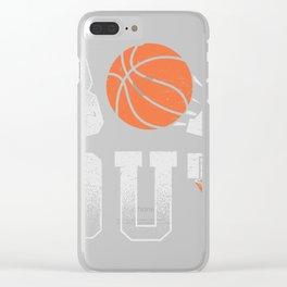 Basketball Coach Shirt Box Out rebound defense Clear iPhone Case