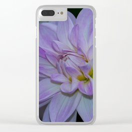 Porcelain Dahlia With Dewdrops Clear iPhone Case