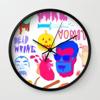 gore Wall Clocks featuring Super Gore by Nick Cocozza