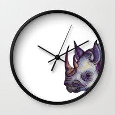 Rhino Blues Wall Clock