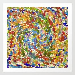 Colorful Tile Mosaic Art Print