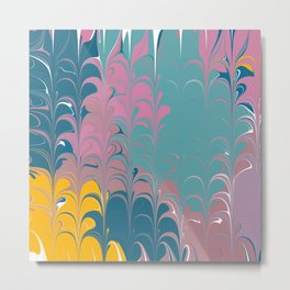 Colorful Abstract Paint Metal Print