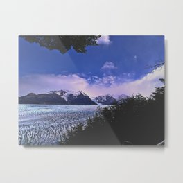 Grey Glacier Metal Print