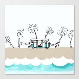 Surfer Van - Surf Art - Gone Surfing Canvas Print