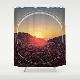 Peel Sunset Shower Curtain