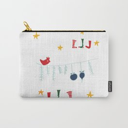 Holiday bird white Carry-All Pouch