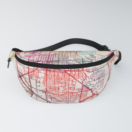 Fond du Lac map Wisconsin WI Fanny Pack