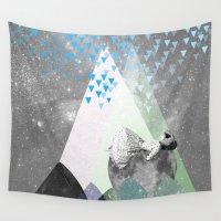 rain Wall Tapestries featuring RAIN by Ceren Kilic