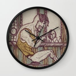 The Weightlifter Wall Clock