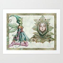 Acorn Fairy Art Print