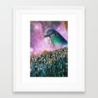 pigeon Framed Art Prints featuring Pigeon by John Turck