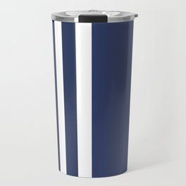 Striped Ombre in Blue Travel Mug