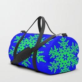 Snowflake in Blue Field, Gift Duffle Bag
