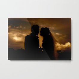 Silhouettes of Love Metal Print