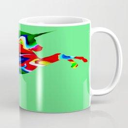 Watercolor unicorn-Green Coffee Mug
