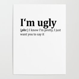 Ugly Dictionary Meme Poster