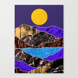 Textured lands Canvas Print