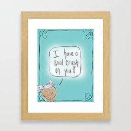 Soul Crush: By Hannah Rothstein (#HeyCreateDaily) Framed Art Print