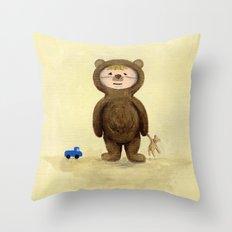 I'm A Bear Grrrrrrrr! Throw Pillow